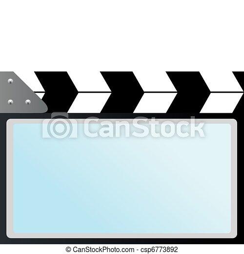 film with slapstick cinema screen movie cracker used in vector rh canstockphoto ca