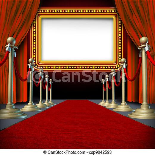filme, marquee, sinal - csp9042593