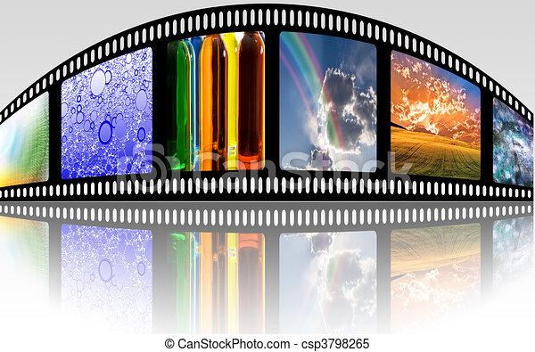 Strip de cine - csp3798265