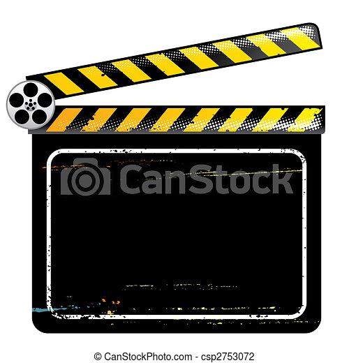 filme, tábua, aplaudidor - csp2753072