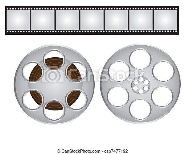 films strip and video film - csp7477192