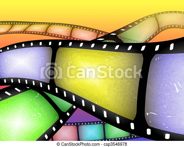 filmstrip abstract - csp3546978