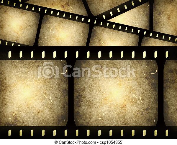 filmstrip, abstrakt - csp1054355