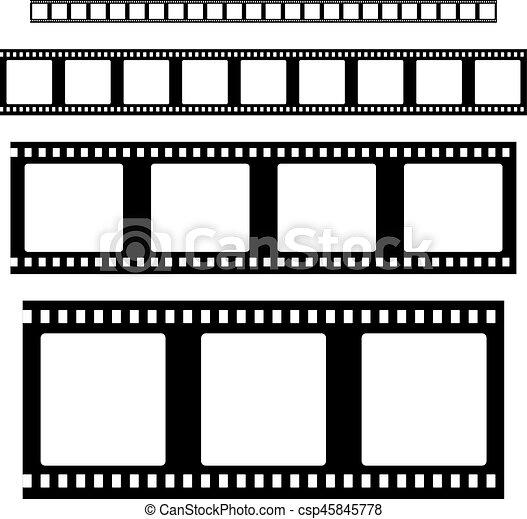 Filmstrip set vector. Filmstrip set vector . empty film strip frames.