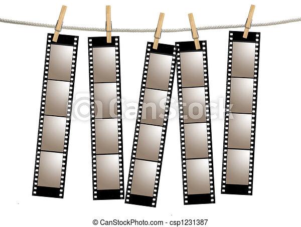 filmstrips, vieux, négatif, pellicule - csp1231387