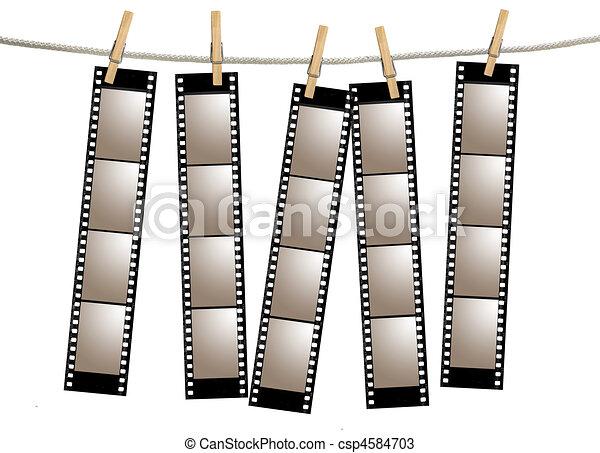 filmstrips, vieux, négatif, pellicule - csp4584703