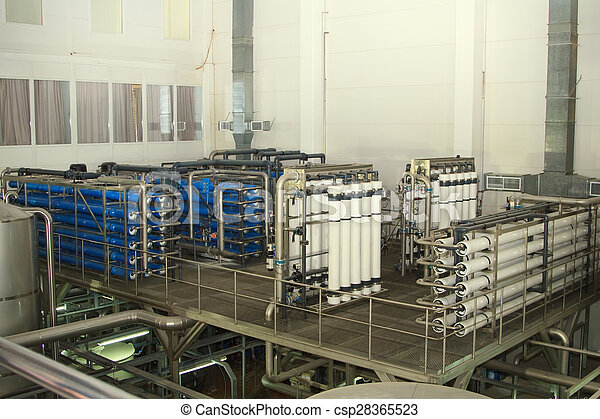 filter system at a large beer company - csp28365523
