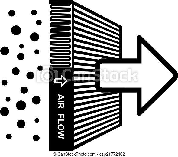 filtro, simbolo, vettore, effetto, aria - csp21772462