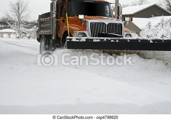fim, arado, neve, cima - csp4798620