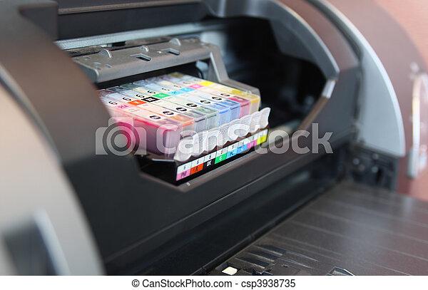 fim, impressora, cima, inkjet - csp3938735