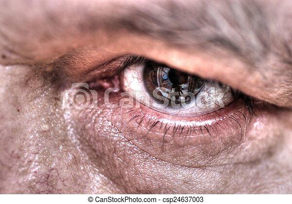 fim, olho, cima - csp24637003