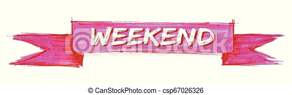 Lazo de fin de semana - csp67026326