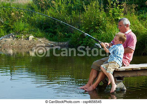 fin de semana, pesca - csp4656545
