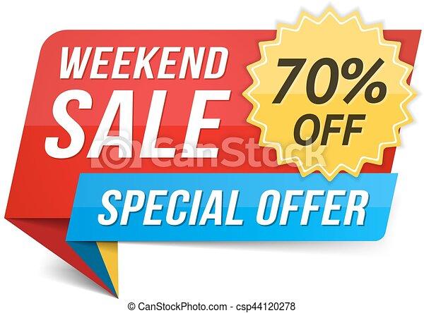 Venta de fin de semana - csp44120278