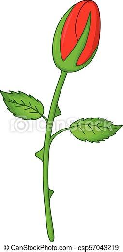 Fin Fleur Rose Dessin Anime Mignon Mignon Fleur Rose
