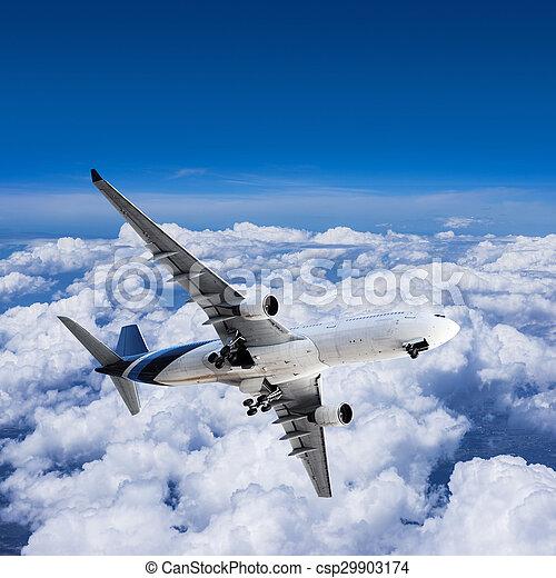 Final approach before landing - csp29903174