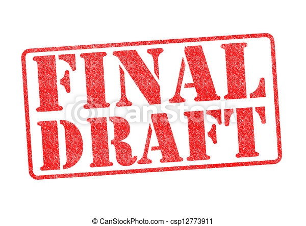 final draft red rubber stamp over a white background