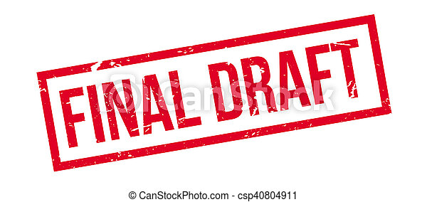 Final Draft rubber stamp - csp40804911