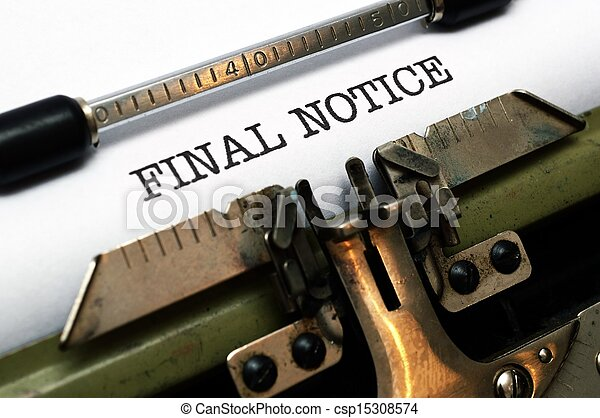FInal notice - csp15308574