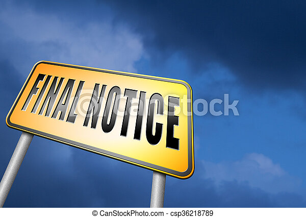 final notice - csp36218789
