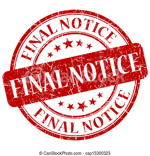 Final Notice Red Stamp - csp15300323