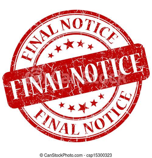 Final Notice Red Stamp - csp15300323