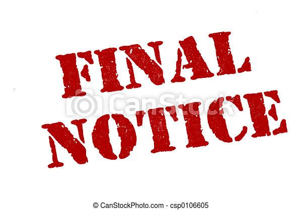Final Notice - csp0106605