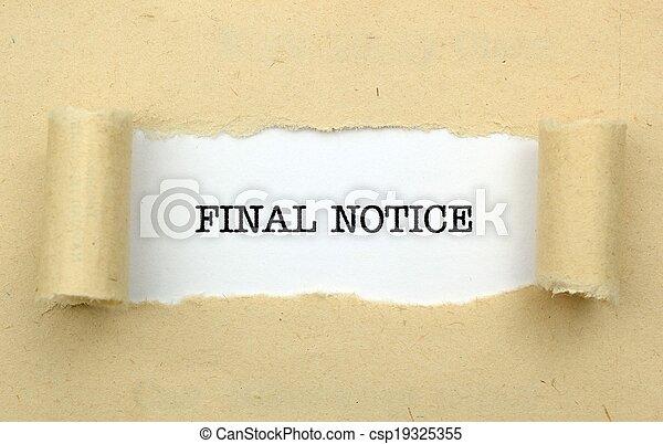 Final notice - csp19325355
