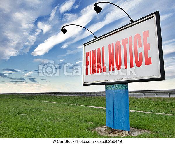 final notice  - csp36256449