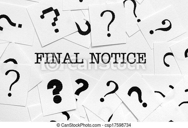 Final notice - csp17598734