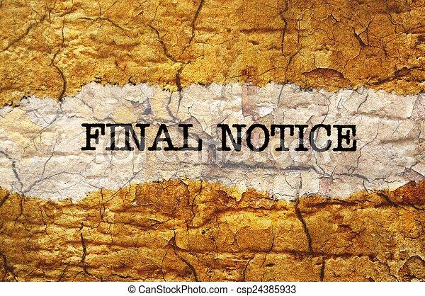 Final notice - csp24385933