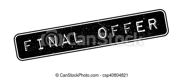 Final Offer rubber stamp - csp40804821