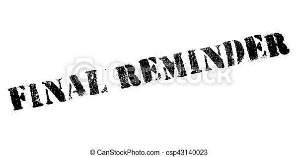 Final reminder rubber stamp - csp43140023