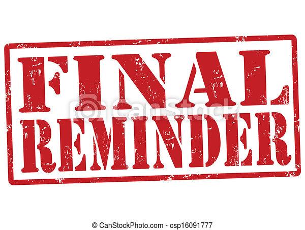Final reminder stamp - csp16091777