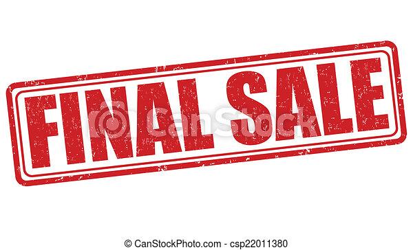 Final Sale Stamp Vector