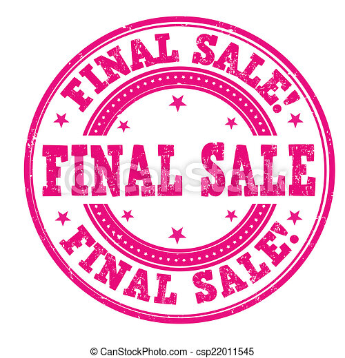 Final Sale Stamp Grunge Rubber On White Background