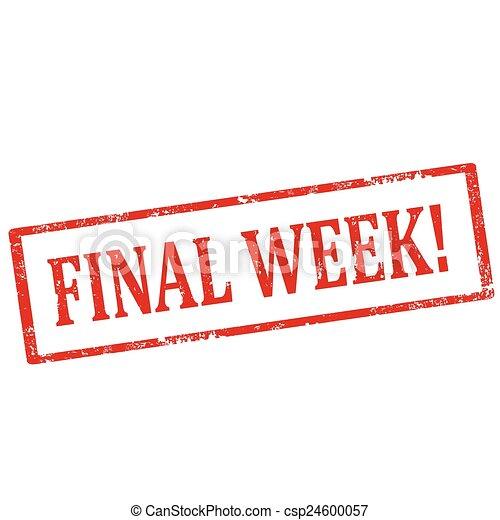 final, week!-stamp - csp24600057