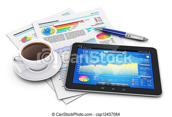 finanças, conceito, mobilidade, negócio - csp12437084