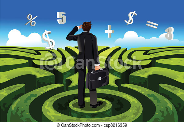 finanças, negócio - csp8216359