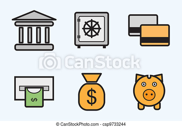 finance and bank icons - csp9733244