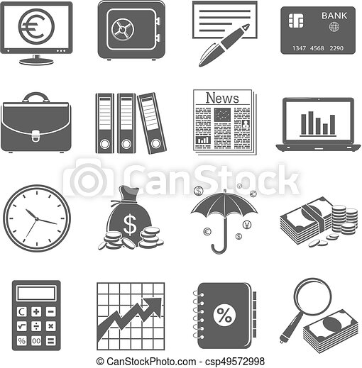 Finance and business icons - csp49572998