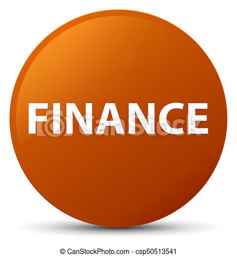 Finance brown round button - csp50513541