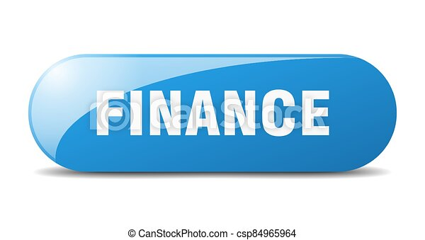 finance button. sticker. banner. rounded glass sign - csp84965964