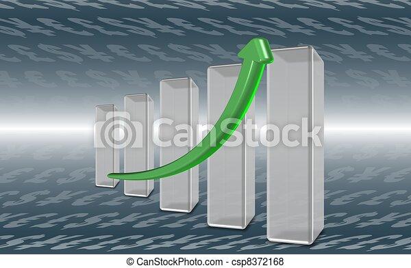 Finance chart - csp8372168