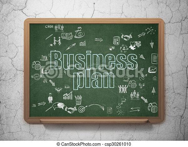 Finance concept: Business Plan on School Board background - csp30261010