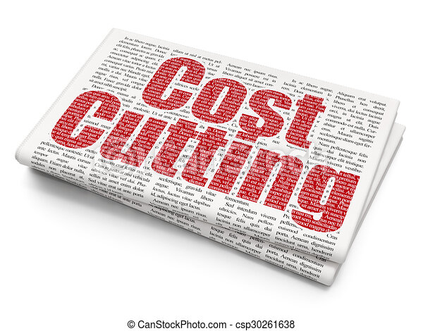 Finance concept: Cost Cutting on Newspaper background - csp30261638