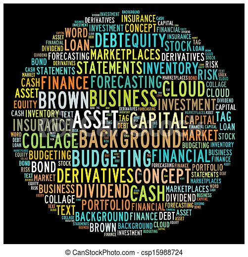 Finance Concept in Word Collage - csp15988724