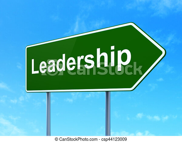 Finance concept: Leadership on road sign background - csp44123009