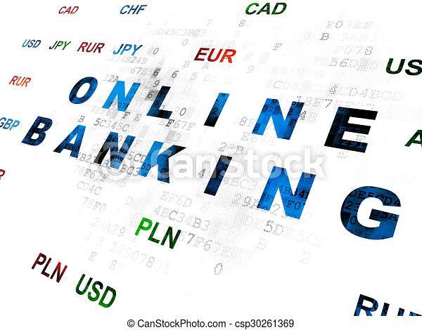 Finance concept: Online Banking on Digital background - csp30261369