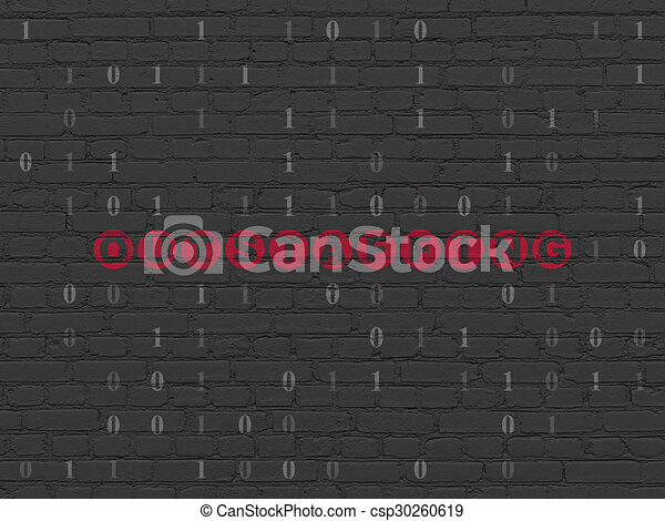 Finance concept: Outstaffing on wall background - csp30260619